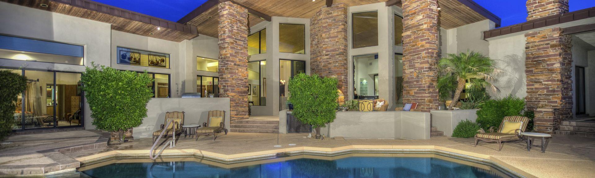 Scottsdale home back pool